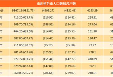 2017年山东省人口大数据分析:人口出生率提高(图表)