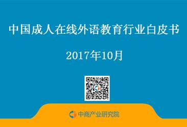 2017年中国成人在线外语教育行业白皮书 (全文)