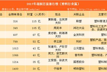 2017年胡潤中國塑料行業百富榜:猜猜誰是塑料大王(附榜單)