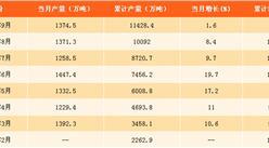 2017年1-9月中国磷矿石产量分析:磷矿石产量达11428.4万吨(附图表)