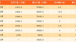 2017年1-9月中国铁矿石原矿产量分析:铁矿石原矿产量同比增长6.3%(附图表)