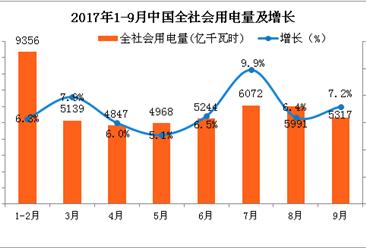 2017年1-9月中国电力工业运行情况分析(图表)