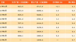 2017年1-10月中国平板玻璃产量分析:平板玻璃产量同比增长4.3%(附图表)