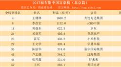2017福布斯中国富豪榜(北京篇):刘强东第三 雷军第五第