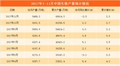 中国生铁产量数据统计分析:1-11月累计产量达6.56亿吨(附图表)