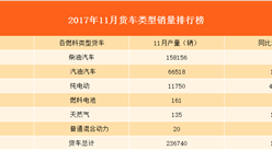 2017年11月货车销量排行榜分析:纯电动型货车现爆发式增长!