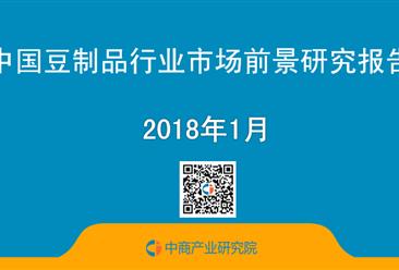 2018年中国豆制品行业市场前景研究报告(简版)