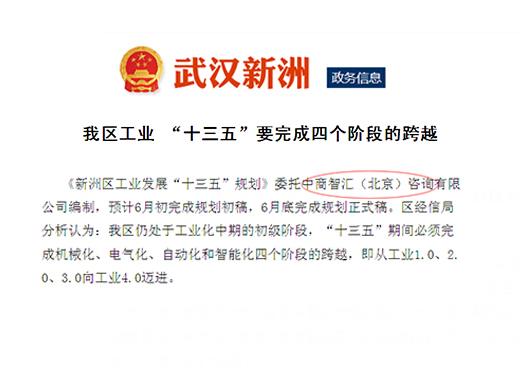 """《新洲区工业发展""""十三五""""规划》委托我公司编制数据调研"""