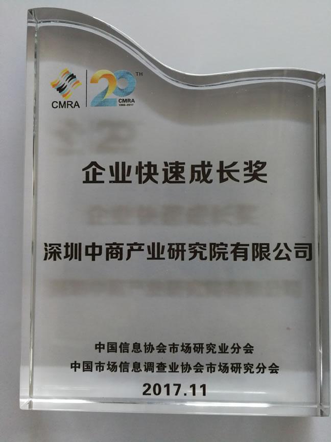 中国信息协会企业快速成长奖