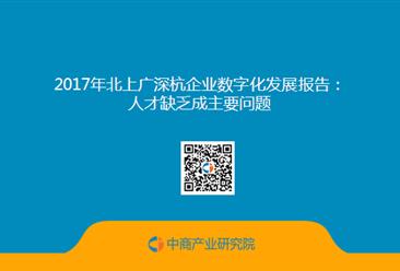 2017年北上广深杭企业数字化发展报告:人才缺乏成主要问题(全文)