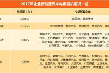 2017年中国新能源汽车电机企业装机情况分析(附电机配套车企一览)