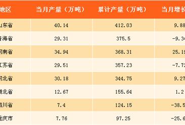 2017年全國各省市純堿產量排行榜:山東位列榜首(附榜單)