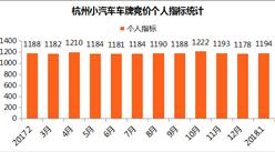 2018年1月杭州小汽車車牌競價數據分析:保持四萬元以上(圖表)