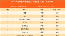 2017年全球大铜精炼厂产能排行榜:桂鑫大铜精炼厂产能全球第一(附榜单)