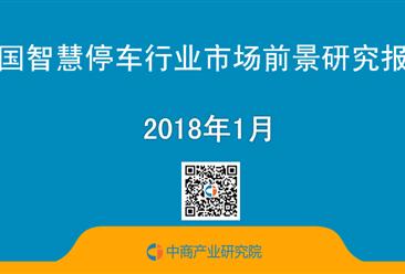 2018年中国智慧停车行业市场前景研究报告(简版)