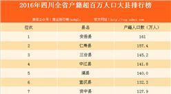 2016年四川省百万人口大县排行榜(附榜单)