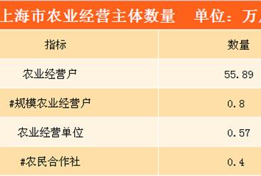 上海市农业基本生产情况分析:全市农业经营户55.89万户(图表)