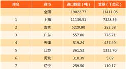 2017年中国硅质土进出口数据分析:吉林出口量第一(图)