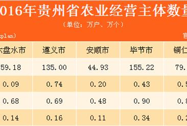 贵州省农业经营主体及设施情况分析:2016年农业经营户达739.54万