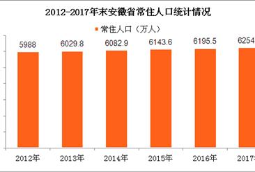 安徽人口大数据分析:2017年安徽常住人口增加近60万人(图)