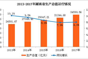 2017年湖南经济发展回顾及2018年经济展望(图)