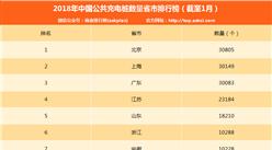 2018年最新中国公共充电桩数量省市排行榜