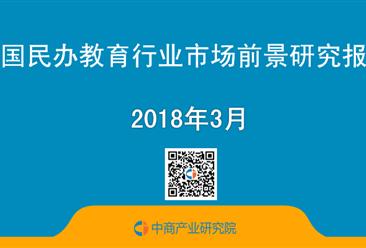 2018年中国民办教育行业市场前景研究报告(简版)