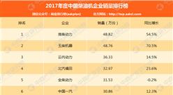 2017年中国柴油机企业销量排行榜