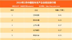 2017年2月中国客车企业销量排行榜(TOP10)