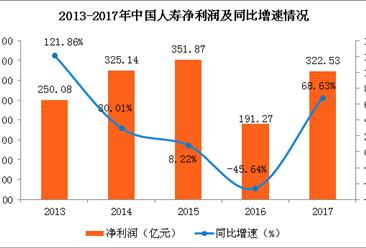 中国人寿2017年实现净利322.53亿 同比增长近7成