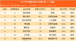 2017年中國獨角獸企業排行榜(廣東篇):深圳菜鳥網絡一家獨大(附名單)