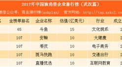 2017年中国独角兽企业排行榜(武汉篇):除斗鱼还有这4家公司(附名单/企业介绍)