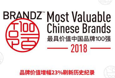 """2018年最具价值中国品牌100强:腾讯实现""""四连冠"""""""