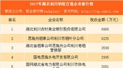 2017年湖北利川纳税百强企业排行榜