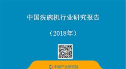 2018年中国洗碗机行业研究报告(附全文)