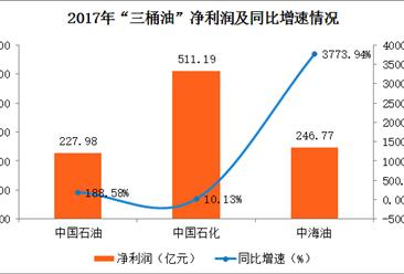 """2017年""""三桶油""""业绩大PK:中海油""""逆袭""""净利暴增37倍"""