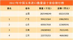 2017年中国玉米进口量前十省份排行榜(附榜单)