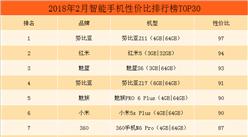 2018年2月智能手机性价比排行榜TOP50(附全榜单)