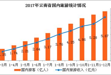 2017年云南旅游业数据统计:旅游总收入同比增长46.5%(附图表)