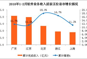 2018年1-2月中国软件业经济运行情况:软件业务收入超8000亿元(附全文)