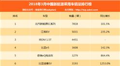 2018年3月中国新能源乘用车销量排行榜