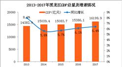 2017年黑龙江统计公报:GDP总量16200亿 常住人口减少10.5万(附图表)
