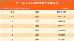 2017年全国各地软饮料产量排名:广东省排名第一(图)