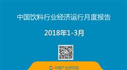 2018年1-3月中国饮料行业经济运行月度报告(附报告全文)