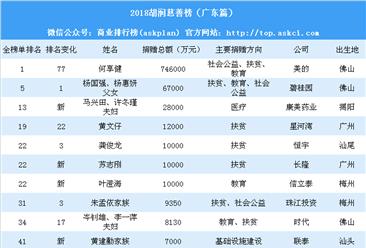 2018胡润慈善榜(广东篇):何享健取代杨国强父女成广东首善(附榜单)