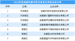 2018年度成都市新经济百家重点培育澳门永利国际娱乐名单:人工智能等行业成培育重点(附名单)