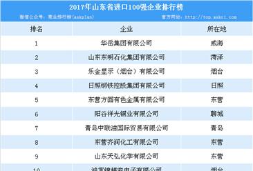 2017年山東省進口企業100強排行榜:華岳集團位列榜首(附榜單)