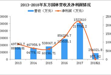 """东方园林创""""史上最惨发债"""" 2018年东方园林经营情况数据分析(图)"""