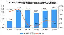 2017年中国连锁百强:江苏华地国际控股集团有限公司经营数据分析(附图表)