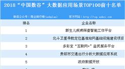 """2018""""中国数谷""""大数据应用场景TOP100排行榜"""